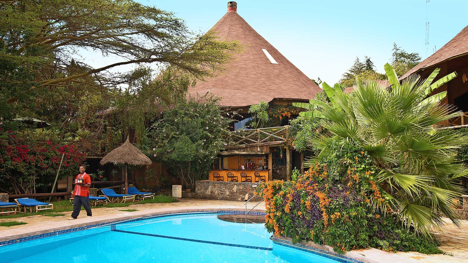 pool and lodge